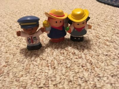 Fisher Price Little People. Farm boy and farm girl plus business man. Gallatin unless going to H ville.