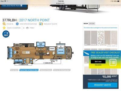 2017 Jayco North Point 377RLBH