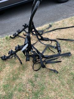 Euc Sports track bike rack asking $75 holds 3 bikes