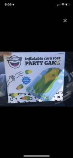 Inflatable corn toss party game