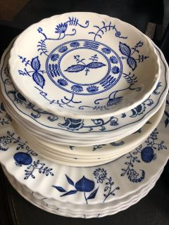 Antique Blue and White Dishes
