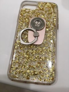 Real gold flakes phone case