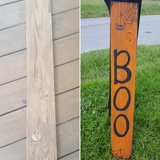 Hand painted halloween front porch sign