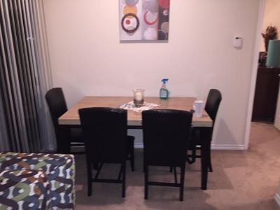 $150, Table and four chairs looking to trade or sale