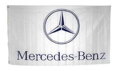 Purchase MERCEDES BENZ Emblem Flag 3x5' Horizontal White Banner jwx* motorcycle in Castle Rock, Washington, US, for US $18.95