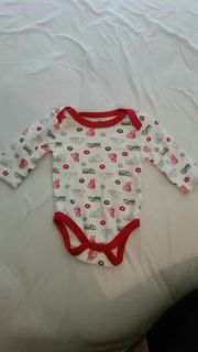 3-6 month long sleeve onesie