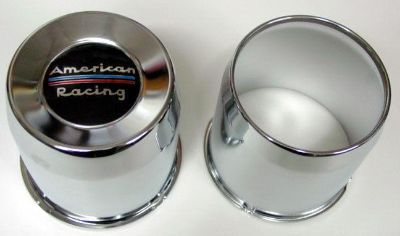 Purchase 4 BLEMS AMERICAN RACING CENTER CAPS 8 LUG CHEVY DODGE RAM FORD TRUCK 2 OPEN 4WD motorcycle in Oklahoma City, Oklahoma, US, for US $43.35