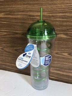 New! 20 oz Double Wall BPA Free Tumbler with curly Straw!