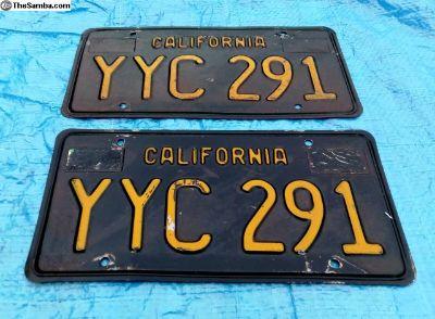 Original California BLACK License Plate Plates
