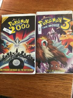 Lot Of f 2 Pokemon vhs movies