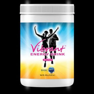 Canister of Vibrant Energy Drink