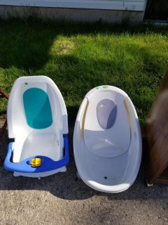 Two baby bath tubs