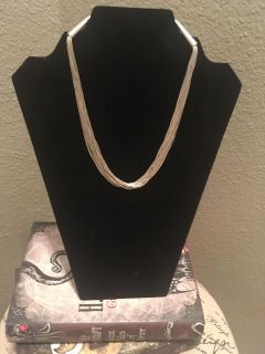 Bohemian Style Silver Necklace