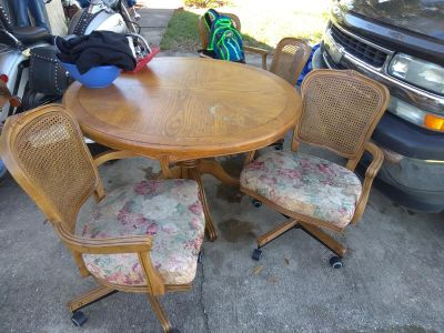 Real wood table 4 chairs