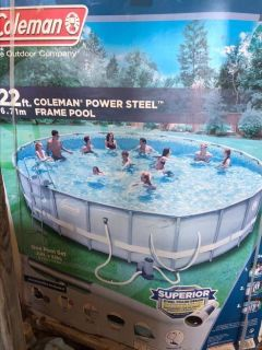 Coleman 22ft x 52 in Power Steel Frame Pool