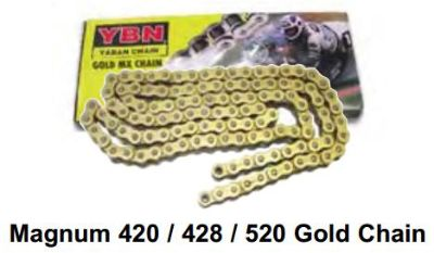 Sell MAGNUM 428 GOLD CHAIN 428 X 136 OFF ROAD DIRT TRAIL RIDE MOTO motorcycle in Maumee, Ohio, US, for US $23.99