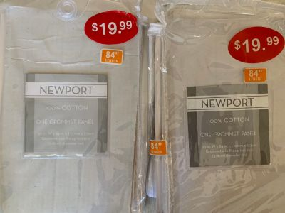 Bed Bath & Beyond grommet panels, opened and never put up