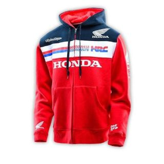 Sell Troy Lee Designs 2016 Honda Team Mens Zip Up Hoodie Red/Blue motorcycle in Holland, Michigan, United States, for US $119.00