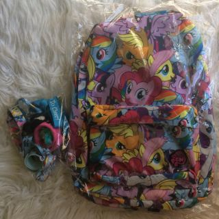 My little pony backpack & accessories