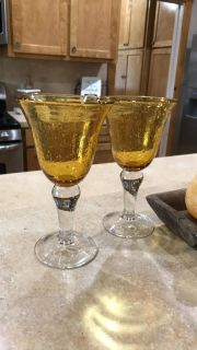 Beautiful amber goblets - 8!