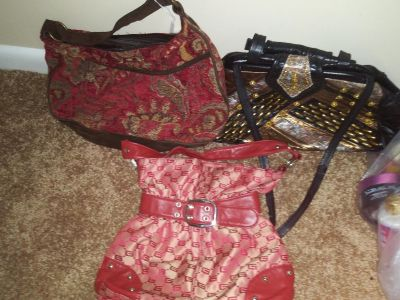3 purses classic style bags.