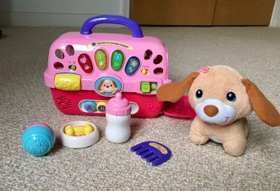 EUC VTech Puppy Care For Me Learning Carrier