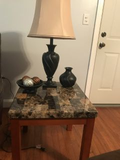 End tables lamps accessories