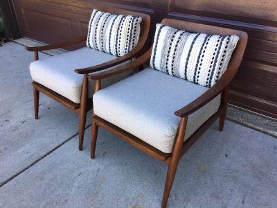 PAIR Restored Vintage MCM Lounge Chairs