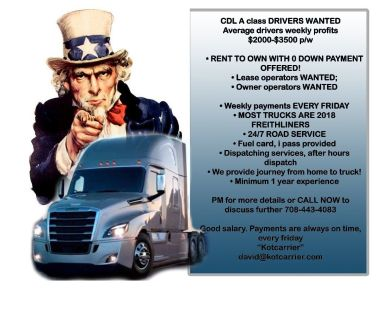 Interested in a CDL Driver position? $1700