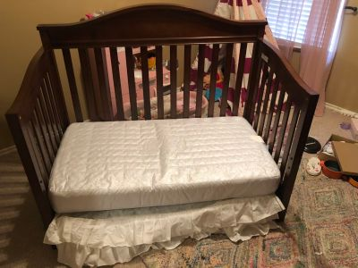 Convertible Crib w/mattress & Rocking chair