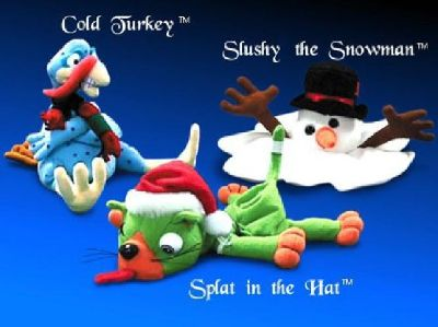 $10 Shocking Stuffers Christmas Meanies set of 3: Slushy the Snowman, Splat in the H