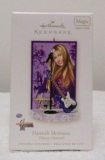 NEW Hallmark Hannah Montana Miley Cyrus Musical Guitar Replica