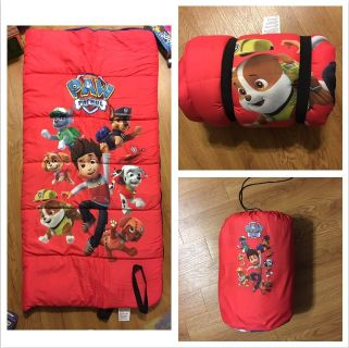 """""""PAW PATROL"""" YOUTH SLEEPING BAG by NICKELODEON-- 28"""" x 56"""" ROLLS UP & STORES IN CARRYING BAG More pics GREAT SHAPE"""