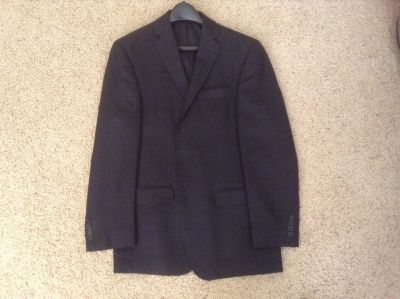 Suit Jacket / Blazer - Black / charcoal gray