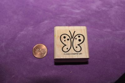 Stampin' Up! Wooden Rubber Stamp: Butterfly Outline