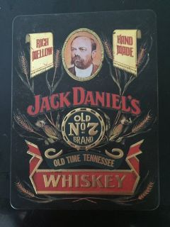 TIN BOX DESIGNED TO MAIL WHISKEY FOR THE JACK DANIEL DISTILLERY.