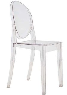 Clear Acrylic Ghost Chair by Stackable Chairs Larry