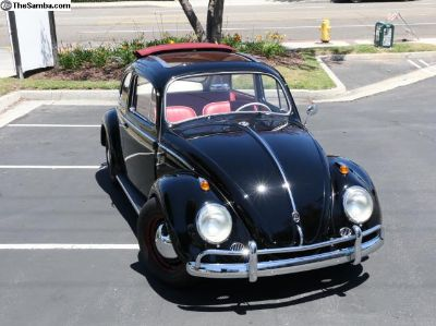 1958 VW Bug Ragtop - Showroom Restoration!