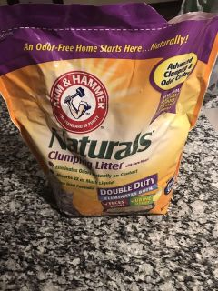 Hardly used cat litter