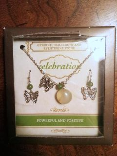 Gemstone Necklace and Earrings Set