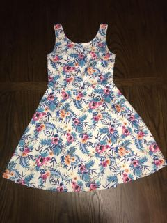 H&M Divided Fit & Flare Tropical Tank Dress Sz. 6 S M