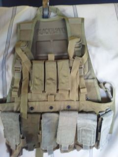MILITARY MODULAR VEST w/ F & B PLATES AND CERAMIC SIDE PLATES