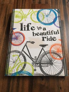 Life is a beautiful ride canvas