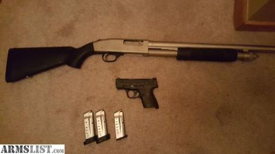 For Sale: S&W 9mm Shield and Mossberg 590 A1