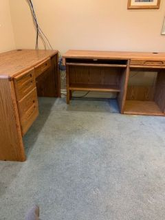 OAKS L SHAPE COMPUTER DESK