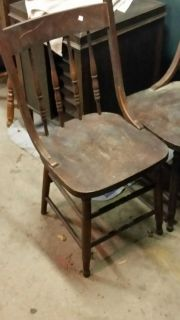 WH Lattimer wooden chairs