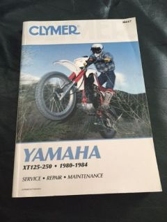 Find YAMAHA XT125-250 Motorcycle Manual EUC Clymer 1980-84 Service Repair Maintc M417 motorcycle in Fair Oaks, California, United States, for US $24.99
