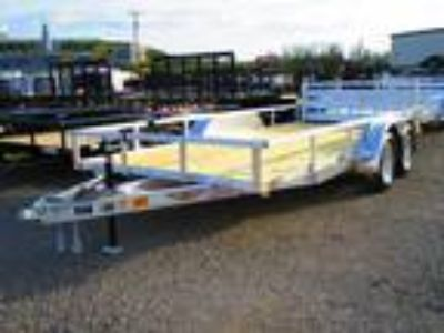 2019 H and H Trailer 82 X 16 Tandem Axle Aluminum