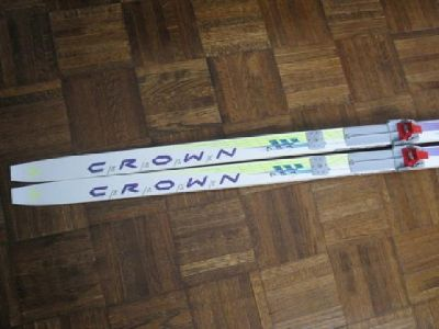 187cm Fischer Crown Base 700 Cross-Country Skis with Salomon Bindings