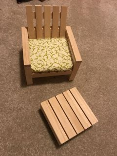 18 doll patio chair and ottoman